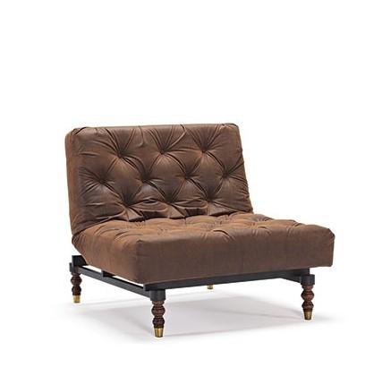 Oldschool Stol - Brown Vintage Leather look