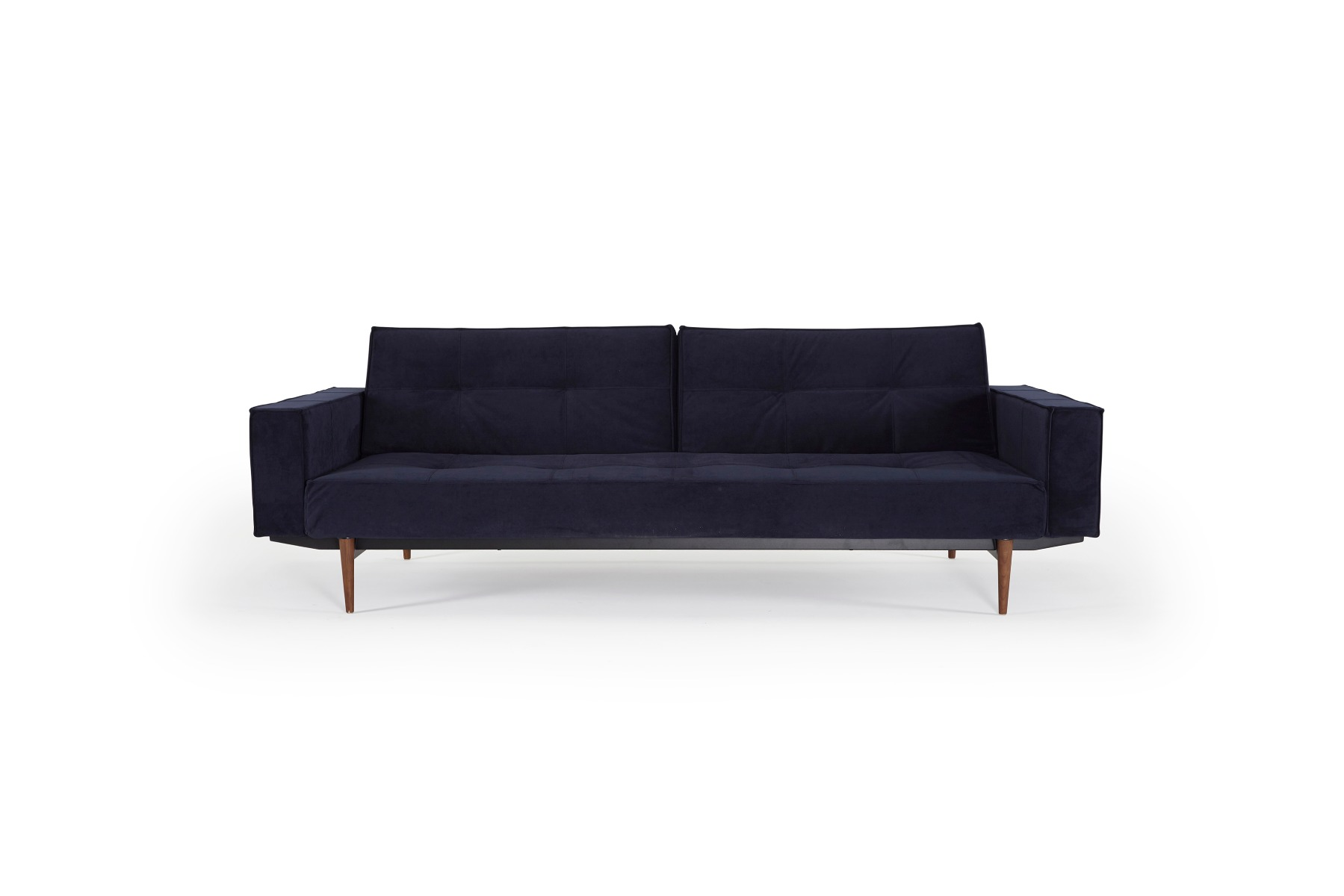 Image of   Splitback Styletto - Velvet Dark Blue